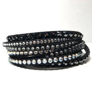 Swarovski Crystal Black Wrap Bracelet